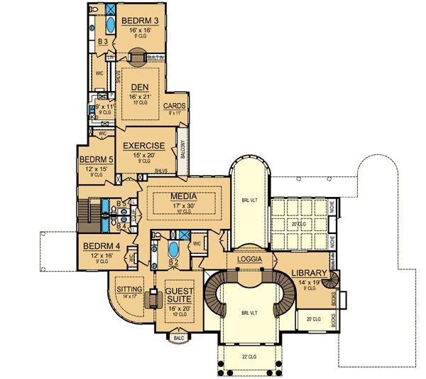 Award Winning Mediterranean House Plans: 17 Best Images About FLOOR PLANS On Pinterest