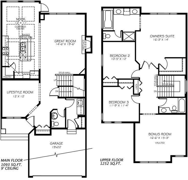 Madison E Model Home floor plan