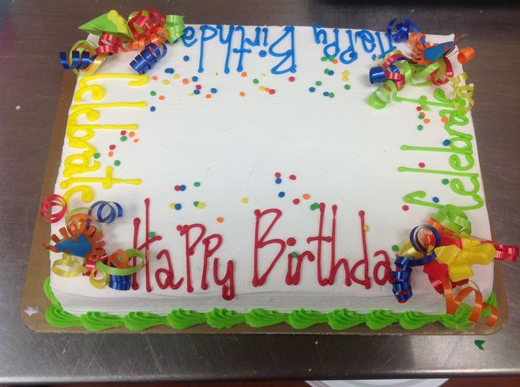 Sheet Cake Birthday Decorating Ideas : 267 best Sheet cakes images on Pinterest