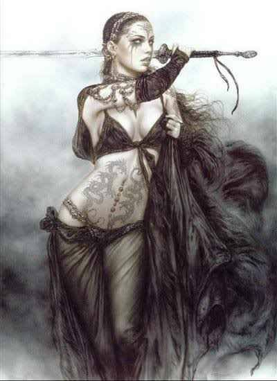 Gorgeous dark warrior woman :)  The artwork is beautiful!