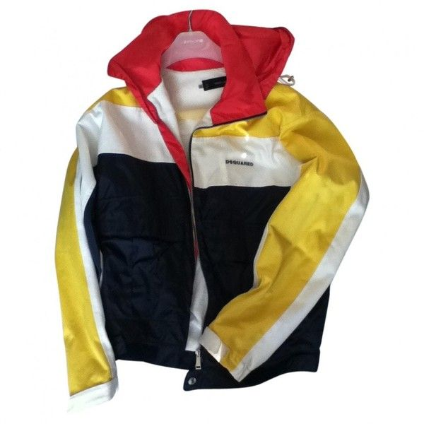 Pre-owned dsquared2 Jacket ($450) ❤ liked on Polyvore featuring men's fashion, men's clothing, men's outerwear, men's jackets, men clothing jackets, yellow and dsquared2