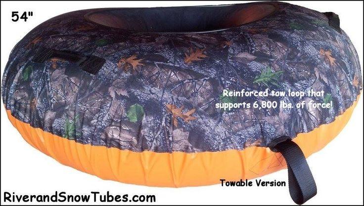 Real-Tree Backwoods Camo Snow Tube from store.sledriding.com    #Sleds #Sledding #ExperienceWinter #SnowTubing