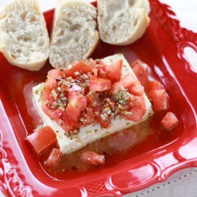 Feta is a popular cheese in Greece. Here is a traditional Greek way of serving feta for you and your guest.