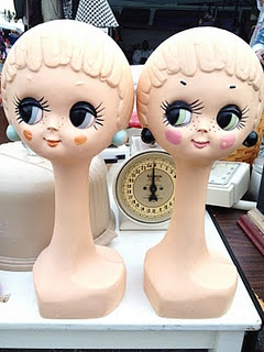 vintage 60s french mannequin heads