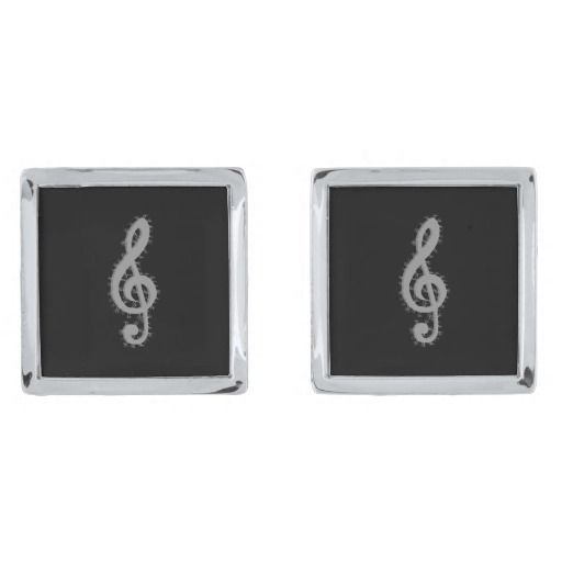 Electric Treble Clef Cuff Links