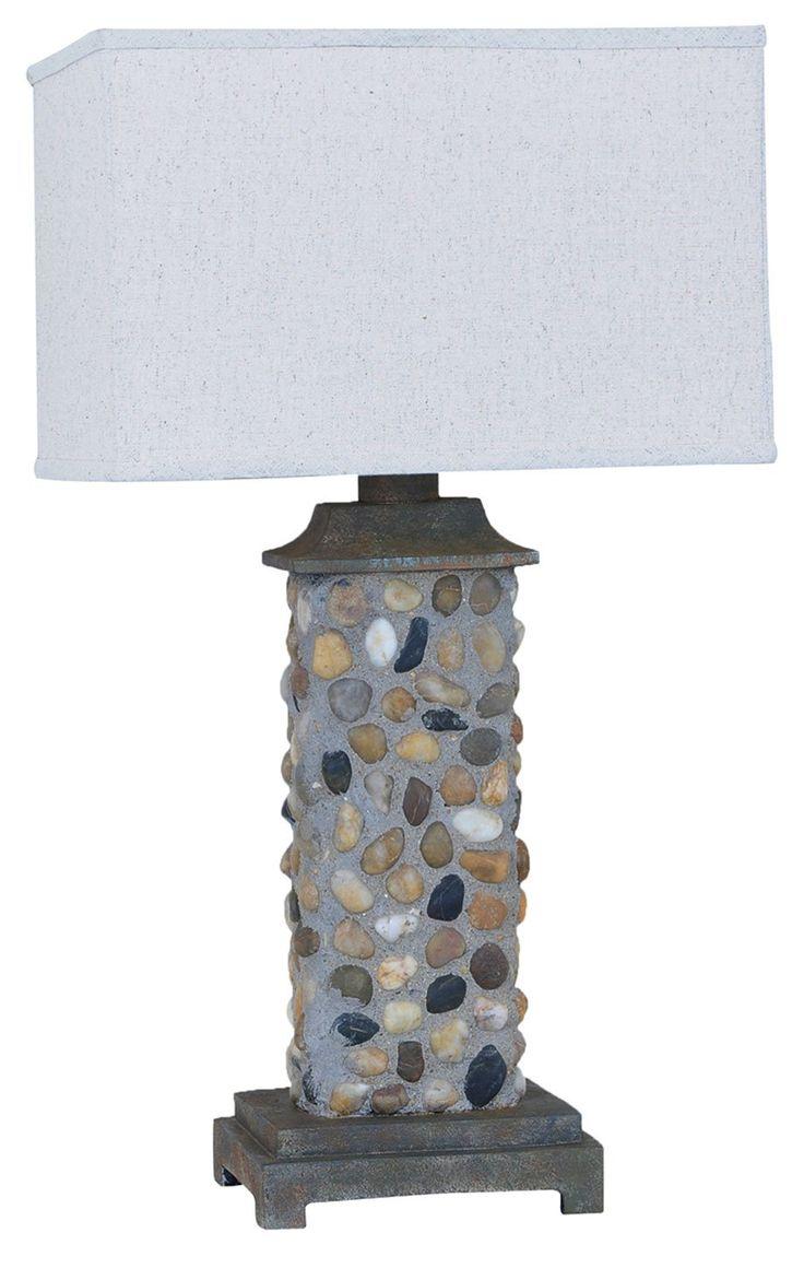 Modern outdoor table lamp - Crestview Collection Cvavp079 River Rock Modern Contemporary Outdoor Table Lamp Cvc Cvavp079