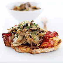Tartines aux champignons et pancetta - Recette Weight Watchers