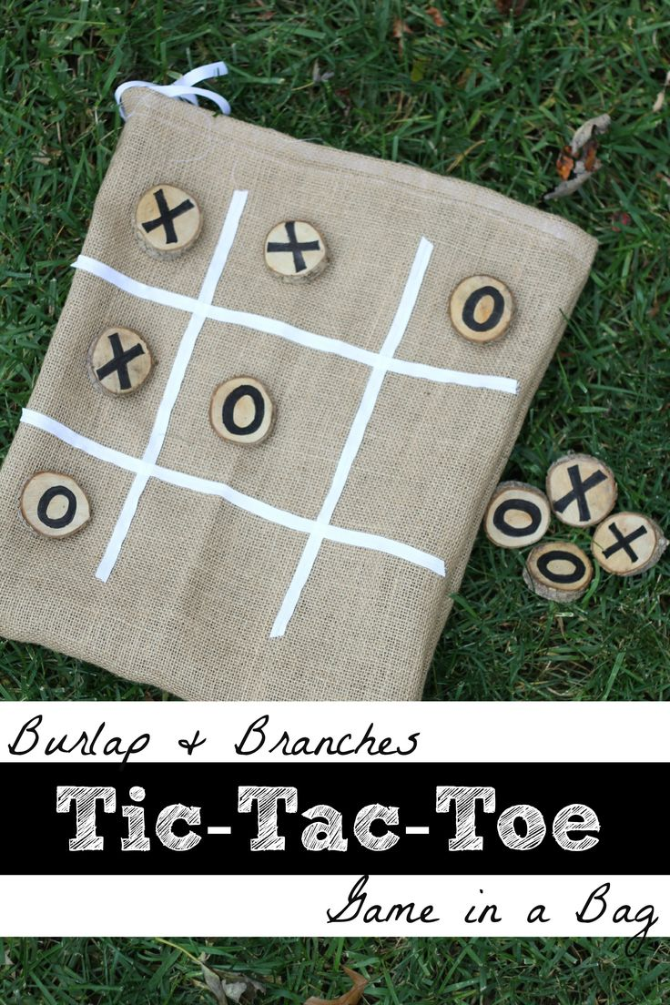 Burlap & Branches Tic-Tac-Toe Game in a Bag