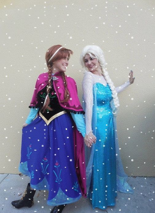 elsa and anna frozen costumes by prestigecouture on etsy 185000 - Halloween Anna Costume