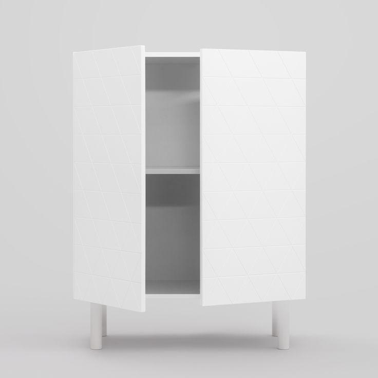 Abstract P2 skåp, vit i gruppen Möbler / Förvaring / Skåp & Sideboards hos RUM21.se (132669)