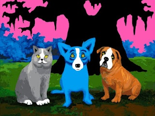 George Rodrigue--I love his Blue Dogs.