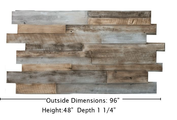realistic faux wood easy diy install for reclaimed wood wall look just screw it into the wall. cuts way easier than wood way less work