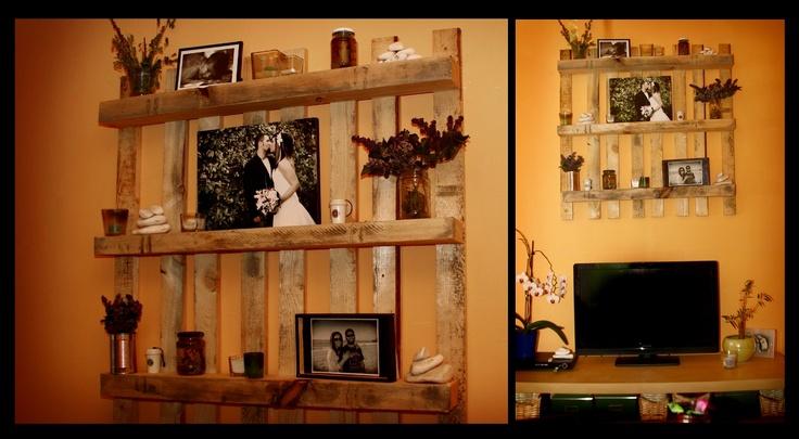 Wood Pallet Shelves I Love Them So Crafts Pinterest