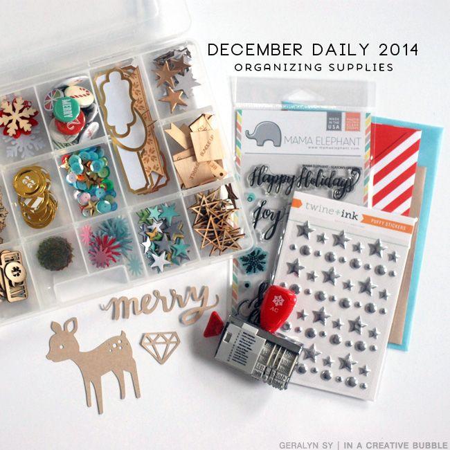 December Daily 2014 // Supplies + Organization