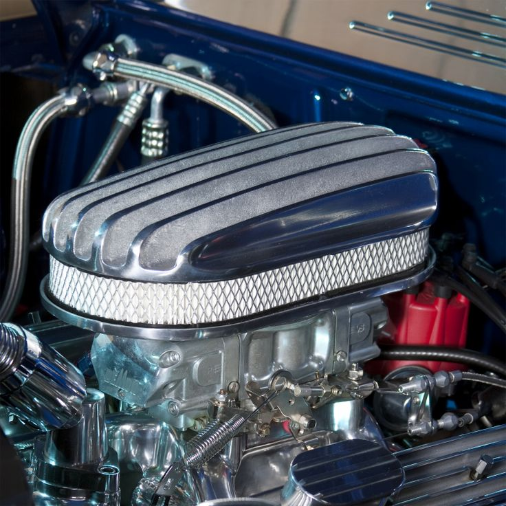Engine Air Cleaner 15 : Quot oval half finned air cleaner with element vintage