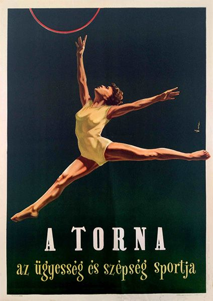 Gymnastics - the sport of skill and beauty (Vincze Dénes, 1954.)