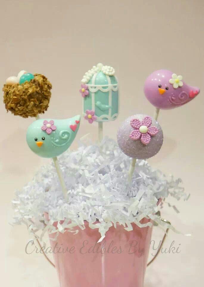 birdie  cake pop