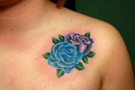 I like how these unlined roses look! | tattoos | Pinterest