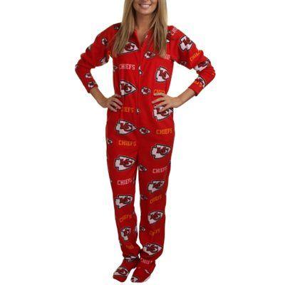 Kansas City Chiefs Highlight Ladies Microfleece Union Suit - Red