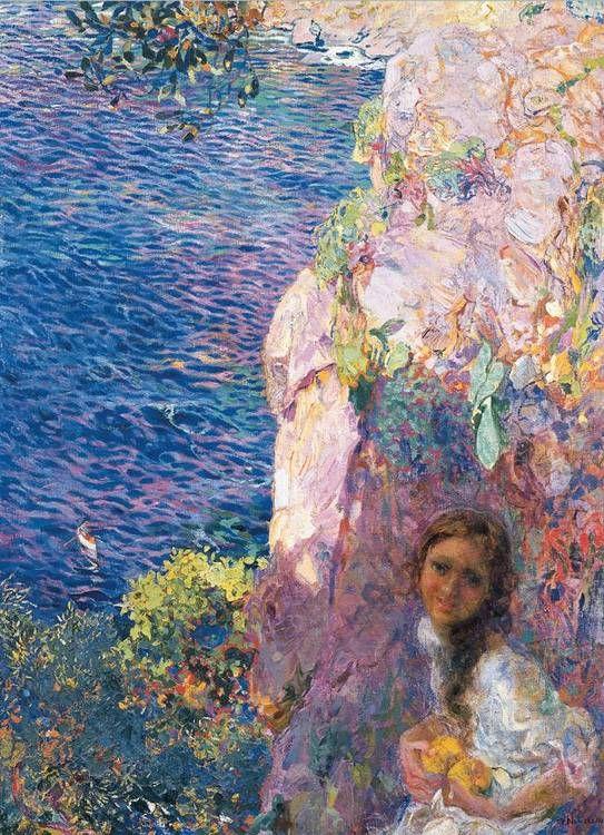 Nomellini, Plinio, (1866-1943), Cliff Top