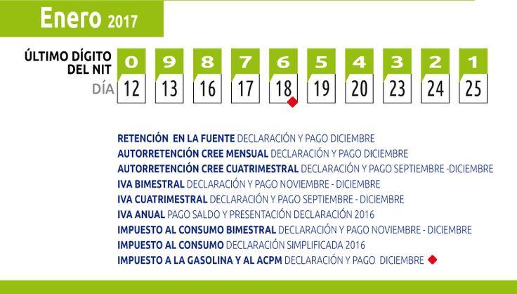 Calendario Tributario Enero 2017