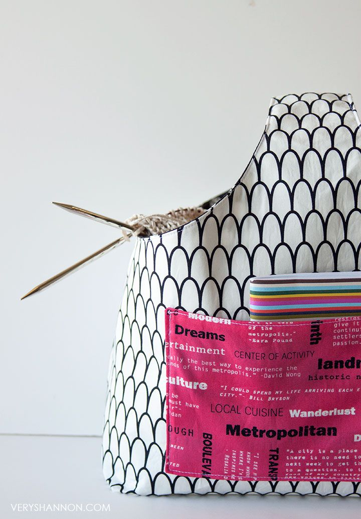 FREE Reversible Box Tote Pattern // VeryShannon.com