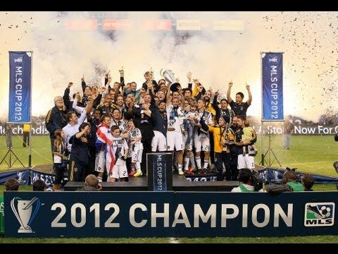 Watch as the Galaxy receive the 2012 MLS Cup trophy
