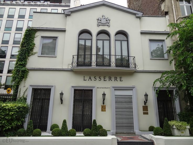 The gourmet Lasserre restaurant, providing a fine dining experience and found near to the famous Champs Elysees avenue.  Learn more; www.eutouring.com/images_paris_city_life_274.html