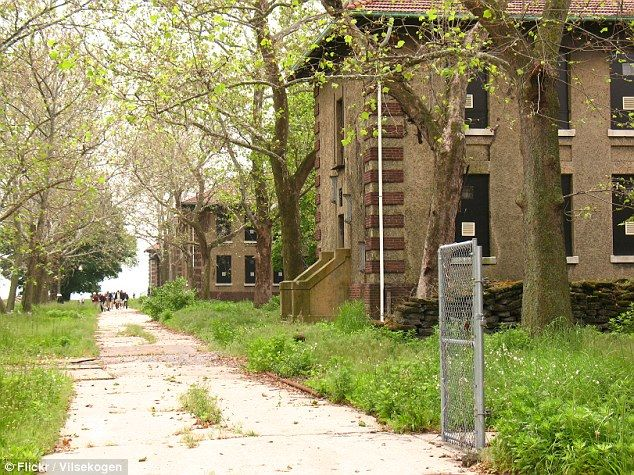 Ellis Island's abandoned buildings