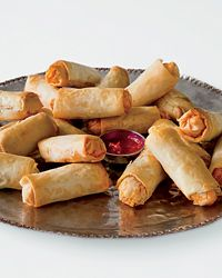 Goat Cheese & Chorizo Rolls | These crispy rolls, adapted from the cookbook Nirmala's Edible Diary are a riff on Argentinean street food.