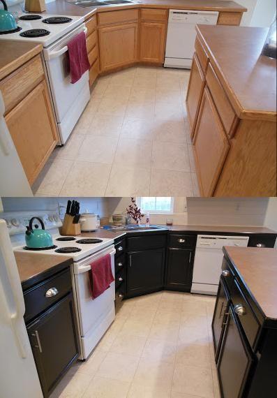 Gel Stained Kitchen Cabinets :: Hometalk