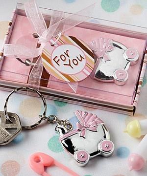 Joli porte clé Baby Shower pour cadeaux aux invités, disponible sur www.mybbshowershop.com