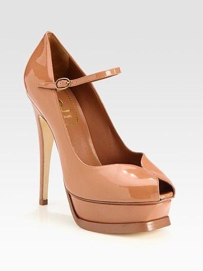Yves Saint Laurent shoes high heels Winter 2012-2013_brown.