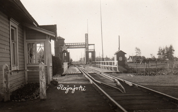 Rajajoki CCCP border postRiver which served as border between Finland and Russia 1812 - 1940