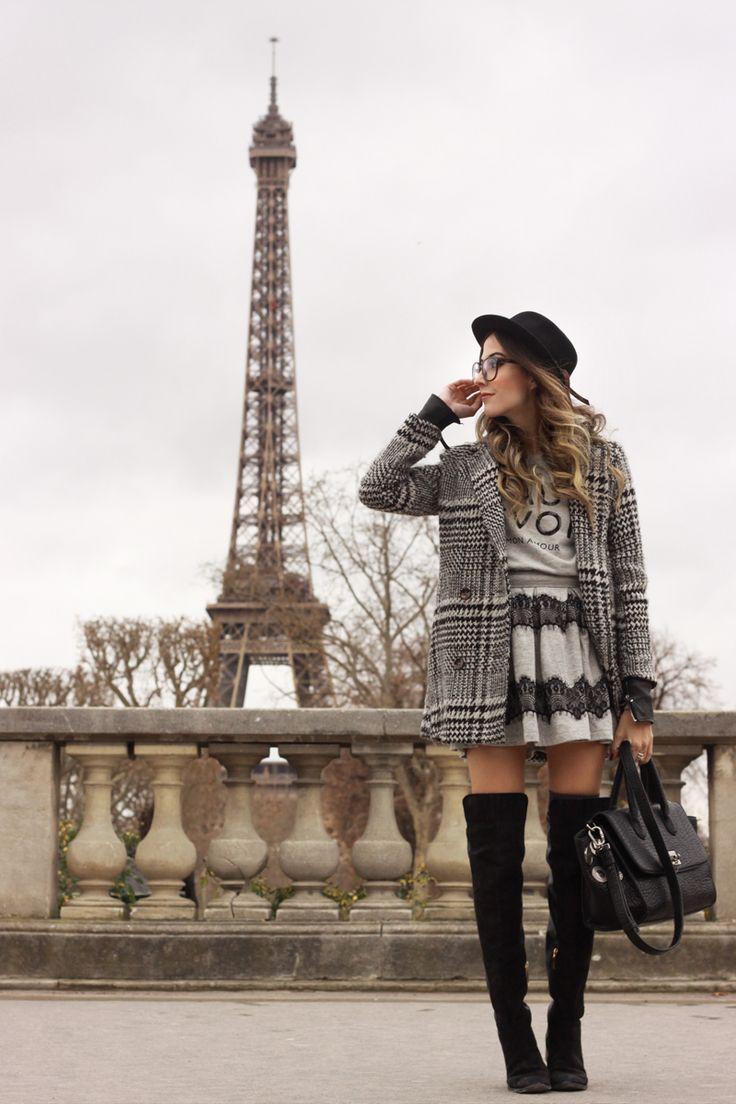 FashionCoolture - 22.02.2016 look du jour Paris Eiffel Tower Slywear lace skirt (1)