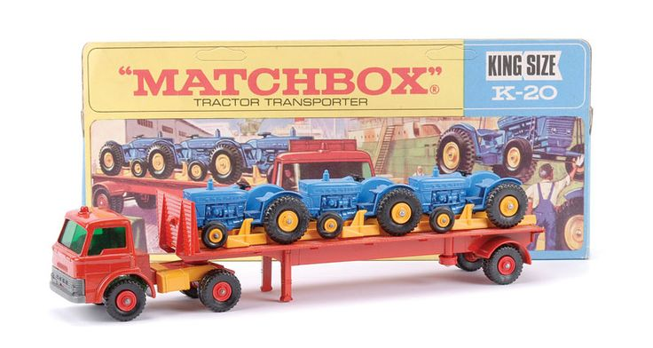 Articulated Tractor Toys And Joys : Matchbox kingsize no k ford d articulated tractor