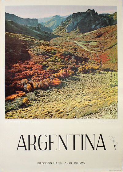 Vintage poster:      Argentina - Pass of Cordoba  by
