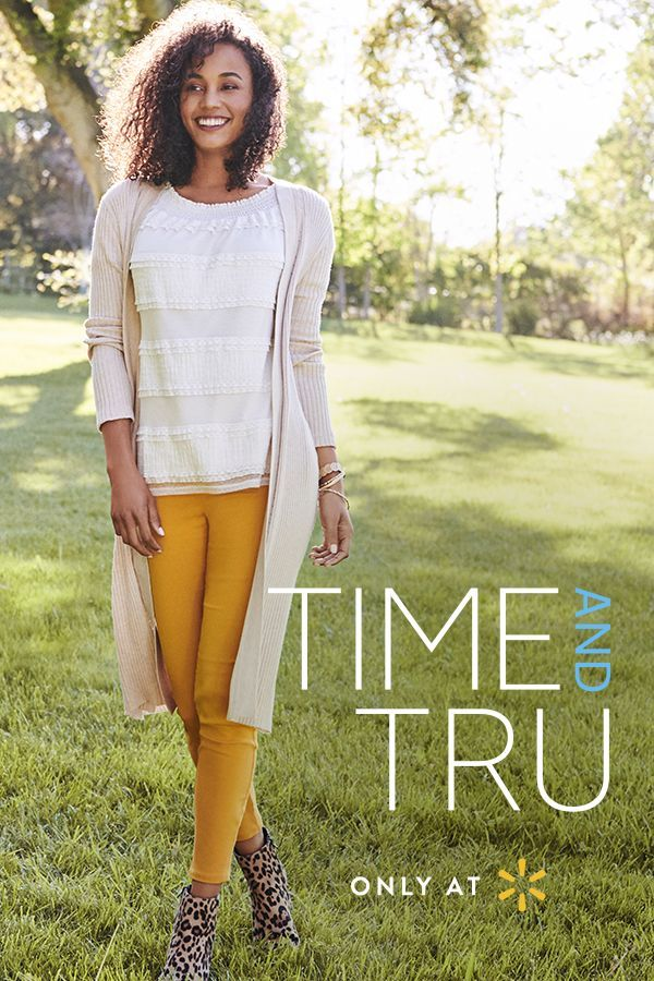 3b86c2d3d5e5 Keep the summer shine as you transition into fall fashion with Time and  Tru s autumn collection. Pair the versatile Time and Tru Duster Cardigan in  ...