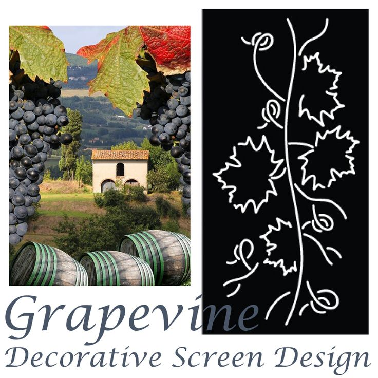 QAQ's 'Grapevine' decorative screen design. See our blog feature post for more on this design + alfresco dining and Tuscan style that it inspires.