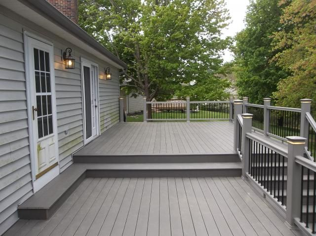 Azek slate grey deck. Decks R Us