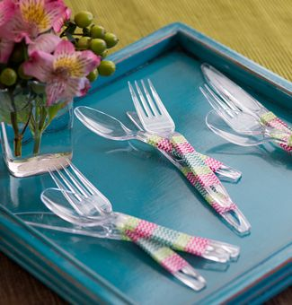 Use tape (color patterns available at craft stores) to easily wrap and decorate your Chinet® Cut Crystal® Cutlery to match the theme of your party. & 111 best Carried Away with Cut Crystal images on Pinterest | Destiny ...