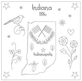 indianaEmbroidery Pattern