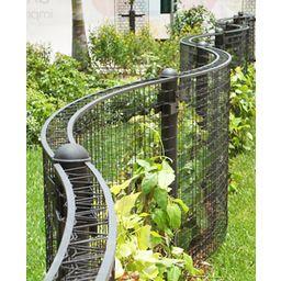 Unique trellis greenscreen custom curved green facade for Curved garden wall ideas