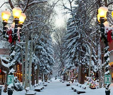 No. 1 Aspen, CO   A combination of luxe living and quaint charm helped this Rocky Mountain town capture the spot as the merriest of them all. Wandering along Cooper Avenue, you may chance upon cookie exchanges, public s'mores roasts, or elf meet-and-greets. But the two most famous hotels in town act as the nerve centers for holiday cheer.