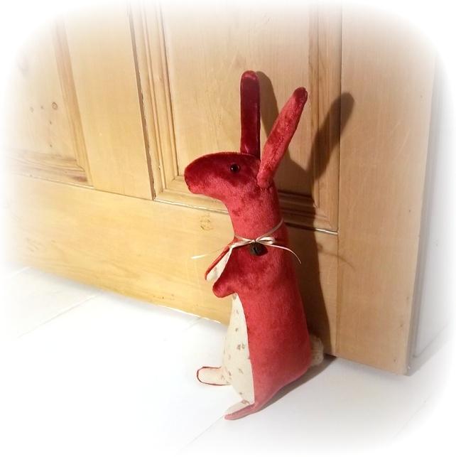 velvet rabbit doorstop £24