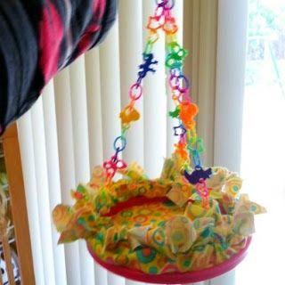 Embroidery Hoop Rat Swing - PetDIYs.com