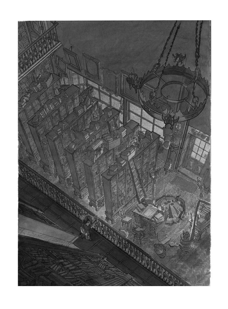 Dibujo aguada 03: tinta aguada sobre copia en papel dinA3: 75 €. David Belmonte ©