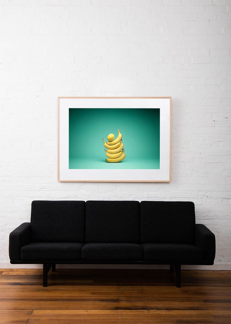 A photographic print by Mark Lobo for One Fine Print. #Green #Yellow #Food #Bananas#StillLife #Print #Art #Photography