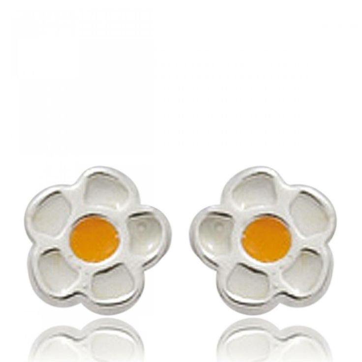 Ladies silver Songes marguerites earrings - Bijoux Paris