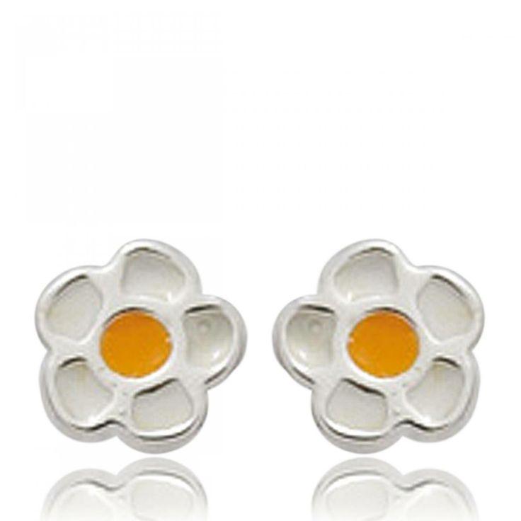Ladies silver Songes marguerites earrings - Bijoux Paris